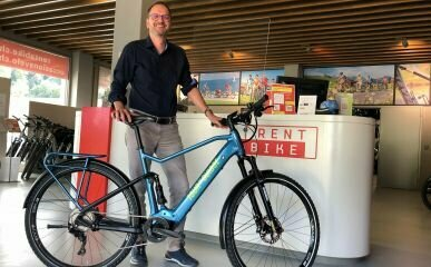 Stefan Maissen, CEO Rent a bike am Hauptsitz in Willisau